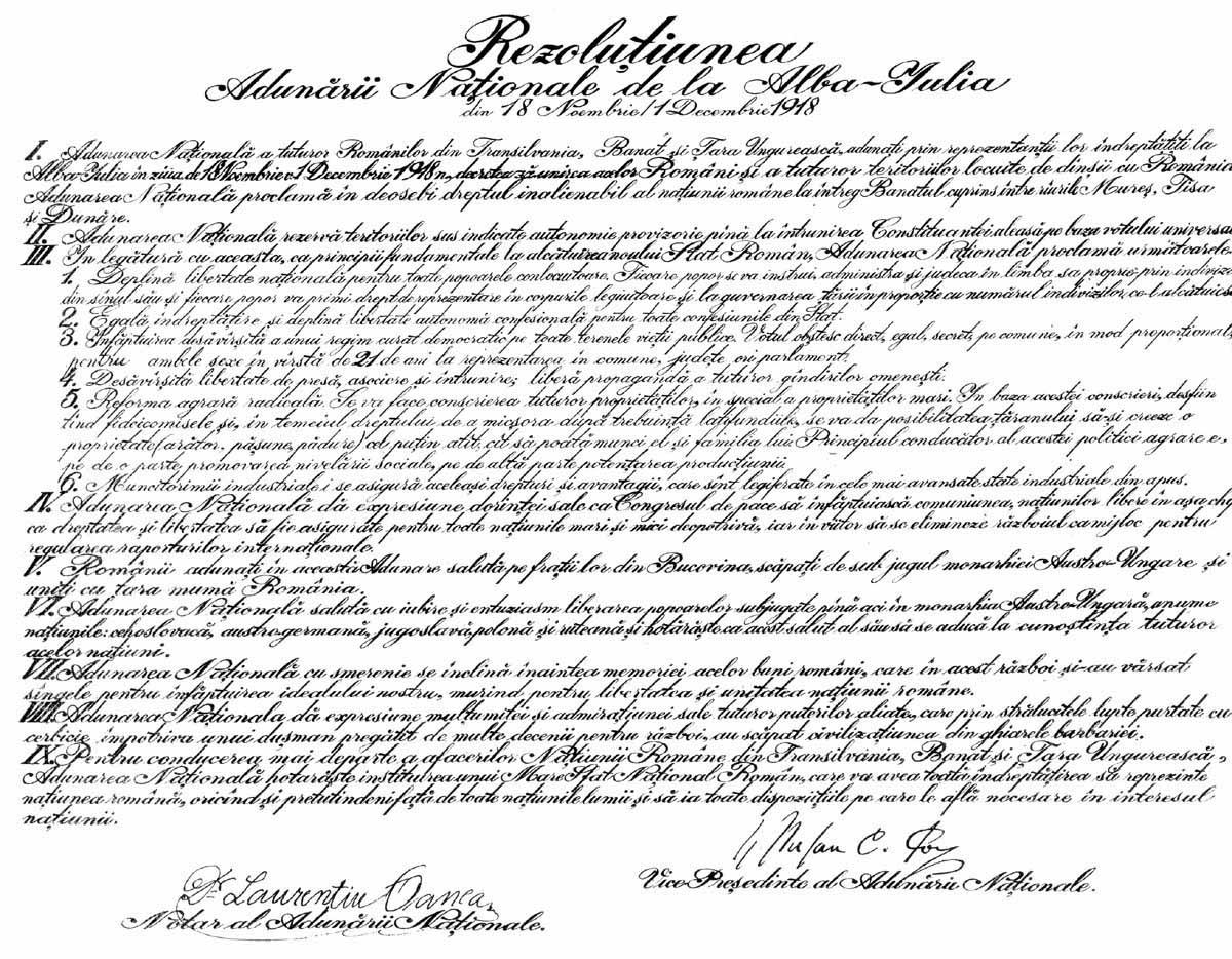 unire, unirea, marea unire, rezolutiunea adunarii nationale, unirea de la alba iulia, unirea din 1918